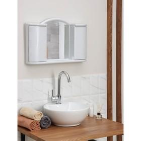 """Шкафчик зеркальный для ванной комнаты """"Арго"""", цвет белый мрамор - фото 4651405"""