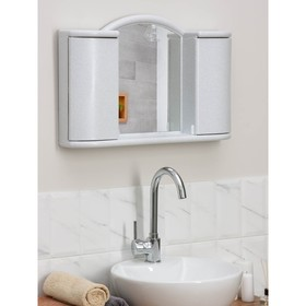 """Шкафчик зеркальный для ванной комнаты """"Арго"""", цвет белый мрамор - фото 4651406"""