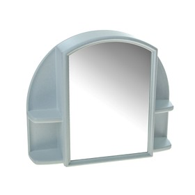 Шкафчик для ванной комнаты c зеркалом «Орион», цвет белый мрамор