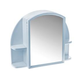 """Шкафчик для ванной комнаты с зеркалом """"Орион"""", цвет голубой"""