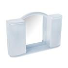 """Шкафчик зеркальный для ванной комнаты """"Арго"""", цвет светло-голубой"""