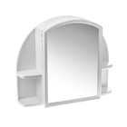 """Шкафчик для ванной комнаты с зеркалом """"Орион"""", цвет снежно-белый"""
