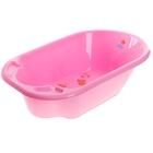 Ванна детская «Дельфин» с рисунком, цвет розовый