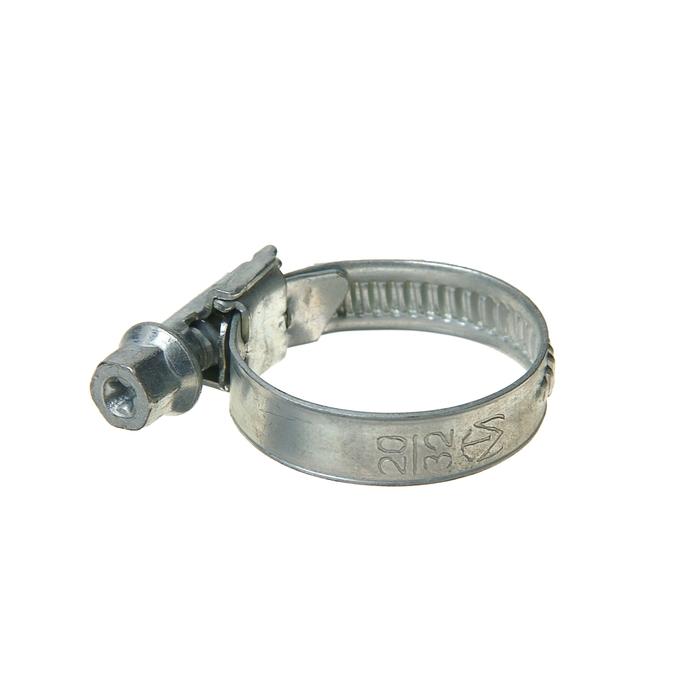 Хомут червячный «Стандарт», диаметр 20-32 мм, оцинкованный