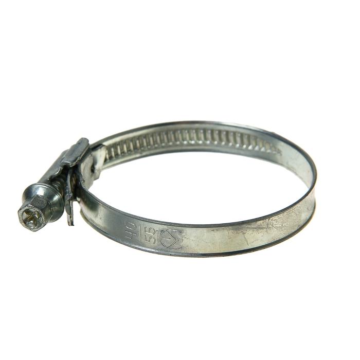 Хомут червячный «Стандарт», диаметр 40-56 мм, оцинкованный