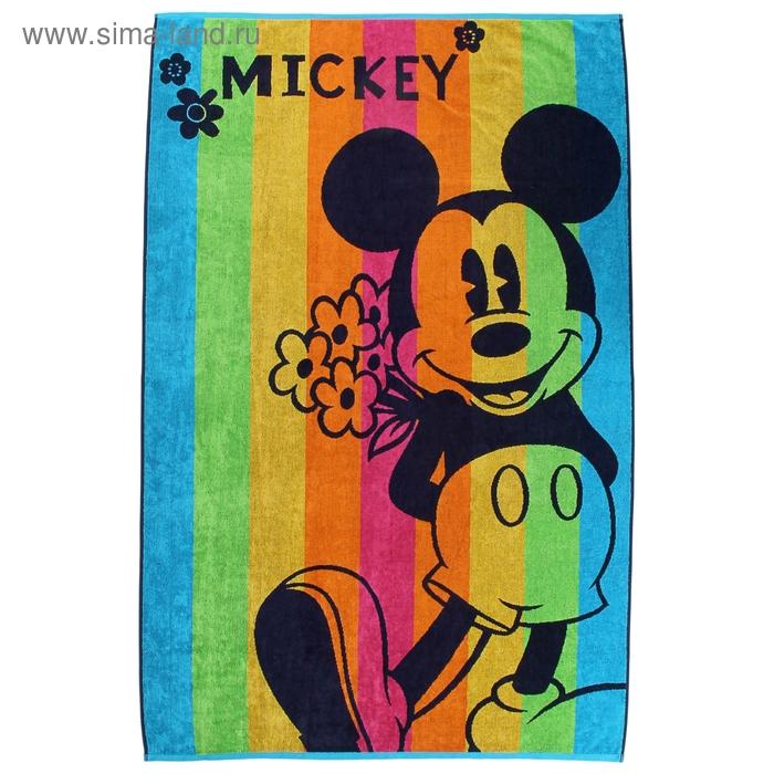 Полотенце махровое Disney Funny Mickey 100х150 см, 100% хлопок, 460 гр/м2