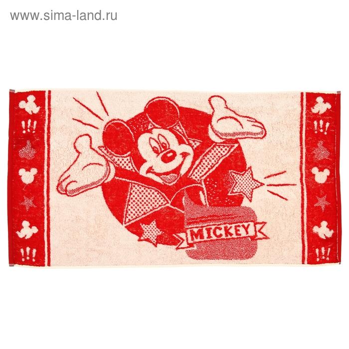 Полотенце махровое Disney Mickey Star 50х90 см, 100% хлопок, 460 гр/м2, цв. красный