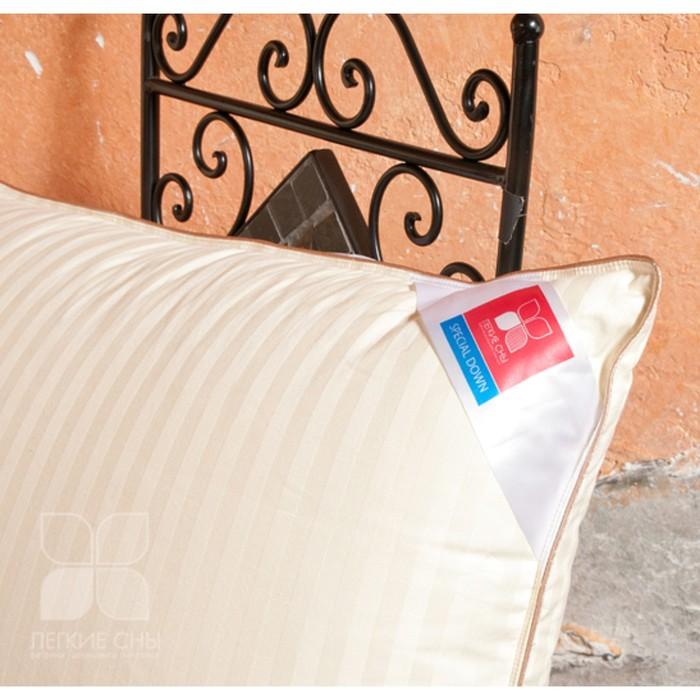 """Подушка """"Мечта"""", 68х68 см, 60% пуха 40% гусиное перо, сатин-жаккард/тик"""