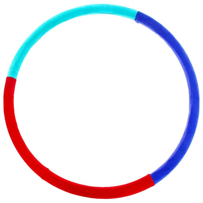 """Обруч утяжеленный """"Идеальный силуэт"""", 800 мм (1,8 кг), цвета МИКС"""