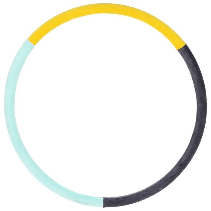 """Обруч утяжеленный """"Идеальный силуэт"""", 850 мм (1,9 кг), цвета МИКС"""