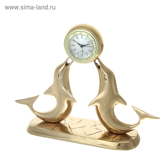 """Часы настольные """"Дельфины"""""""