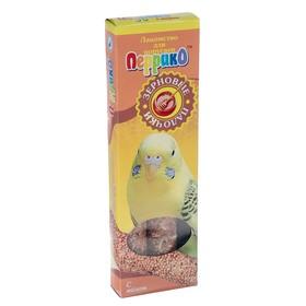 """Зерновые палочки """"С мёдом"""" для попугаев, набор 2 шт, коробочка"""