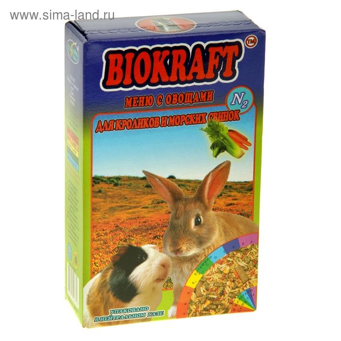 "Корм для кроликов и морских свинок ""Биокрафт. Меню с овощами"", 400 гр"