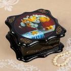 Шкатулка «Цветы», 14×14×6 см, лаковая миниатюра, микс