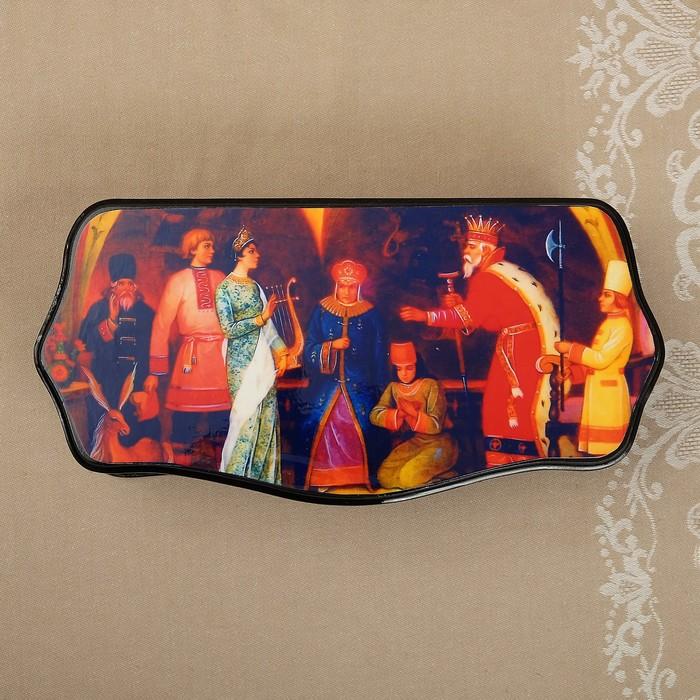 Шкатулка «Сказки», 17×22 см, лаковая миниатюра, микс