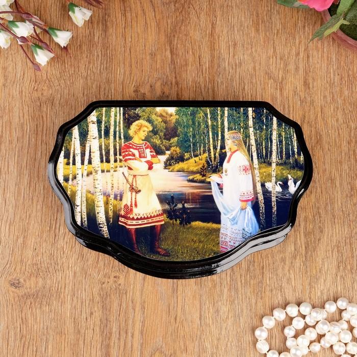 Шкатулка «Сказки», 23×15 см, лаковая миниатюра, микс