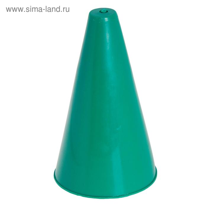 Конус для разметки полей и трасс, h=16 см, цвет зелёный