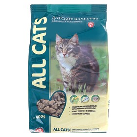 Сухой корм All cats для взрослых кошек, курица, 400 г Ош