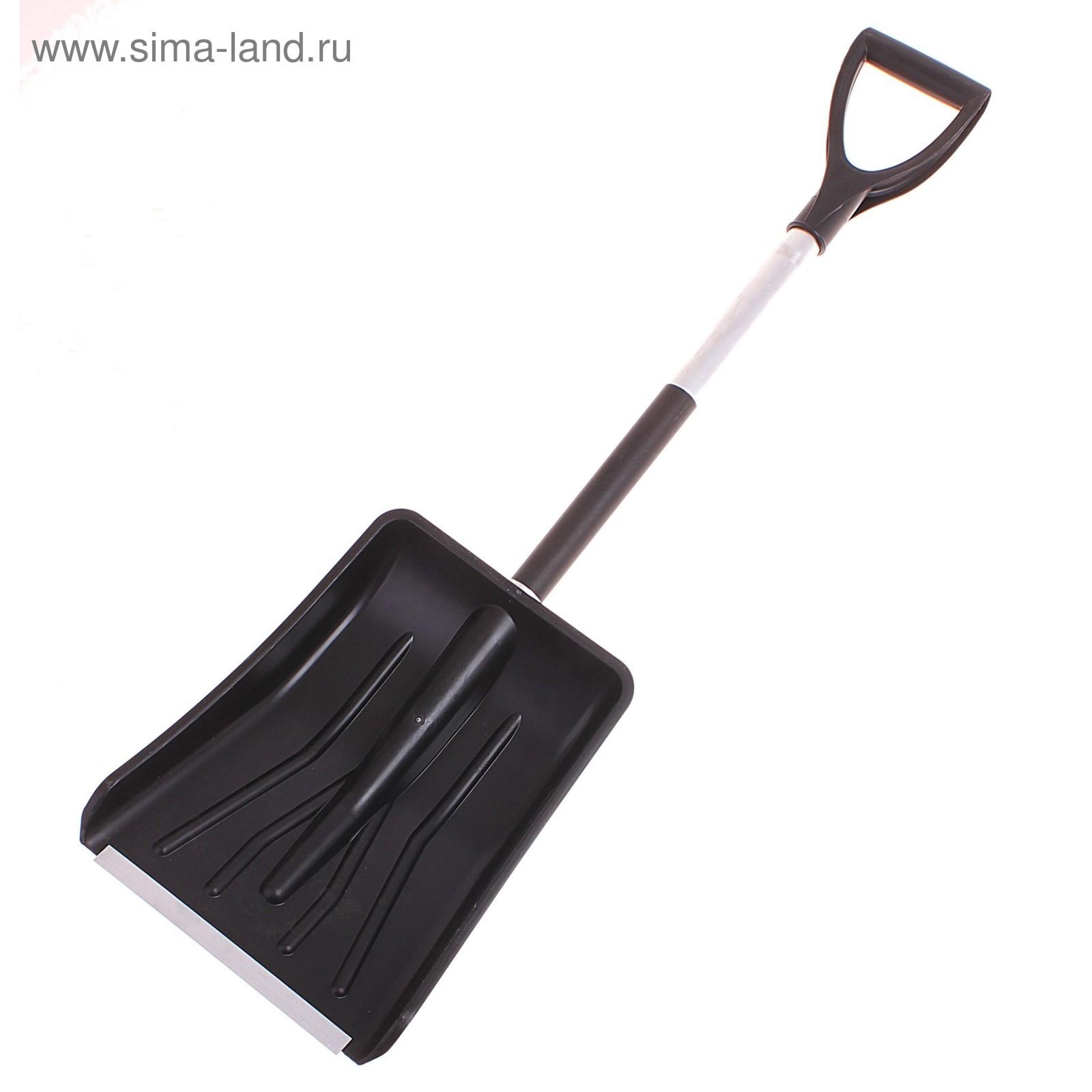 Лопата автомобильная пластиковая, ковш 280 × 370 мм, с металлической  планкой, черенок, 5836fae4806