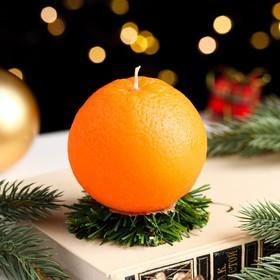 """Свеча новогодняя """"Апельсин средний"""""""