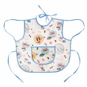 Apron-bib, made of PVC-coated oilcloth, with ties, MICS color