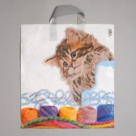"""Пакет """"Китя"""", полиэтиленовый с петлевой ручкой, 38х45 см, 45 мкм"""