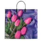 """Пакет """"7 тюльпанов"""", полиэтиленовый с пластиковой ручкой, 38 х 35 см, 100 мкм - фото 133282732"""