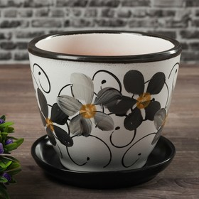 Горшок цветочный Фиалка дневная 1л с подставкой