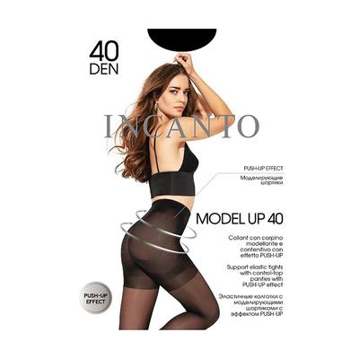 Колготки женские INCANTO Model Up 40 den, цвет чёрный (nero), размер 2