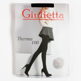 Women's tights Giulietta THERMO 100 den, black (nero), size 2