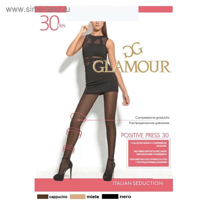 Колготки женские GLAMOUR Positive press 30 (nero, 5)