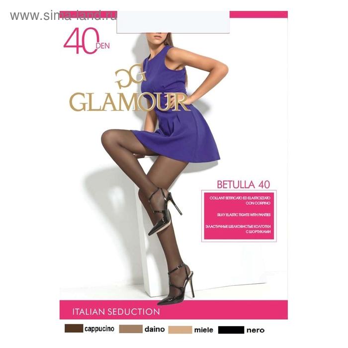 Колготки женские GLAMOUR Betulla 40 (nero, 2)