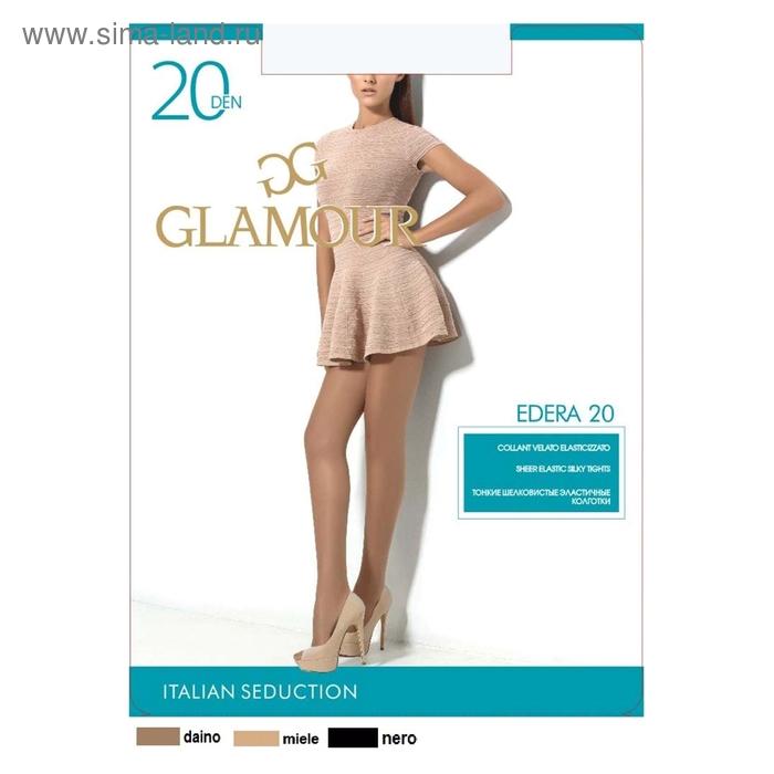 Колготки женские GLAMOUR Edera 20 (nero, 4)