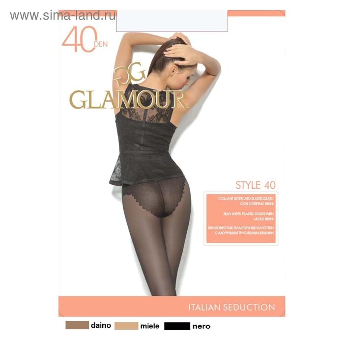 Колготки женские GLAMOUR, цвет nero (чёрный), размер 5 (арт. Style 40)