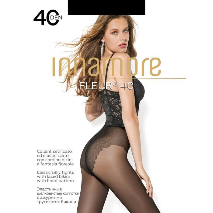 Колготки женские INNAMORE Fleur 40 (nero, 3)