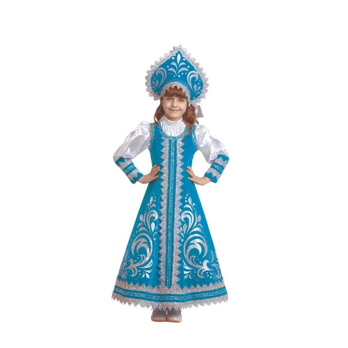 Карнавальный костюм «Снегурочка Русская», р. 36, рост 140 см