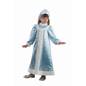 Детский карнавальный костюм «Снегурочка», (платье, кокошник), размер 32, рост 122 см