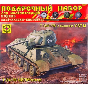 Сборная модель «Танк Т-34-76 с башней УЗТМ»