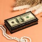 Шкатулка - купюрница «Доллар», 8,5×17 см, лаковая миниатюра, микс