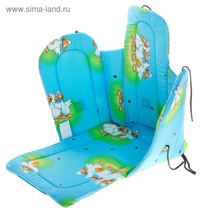 Сиденье для санок со спинкой и подлокотниками, на завязках, МИКС