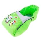 Сиденье для санок «Пингвин» со съёмным чехлом для ног на молнии, цвет салатовый
