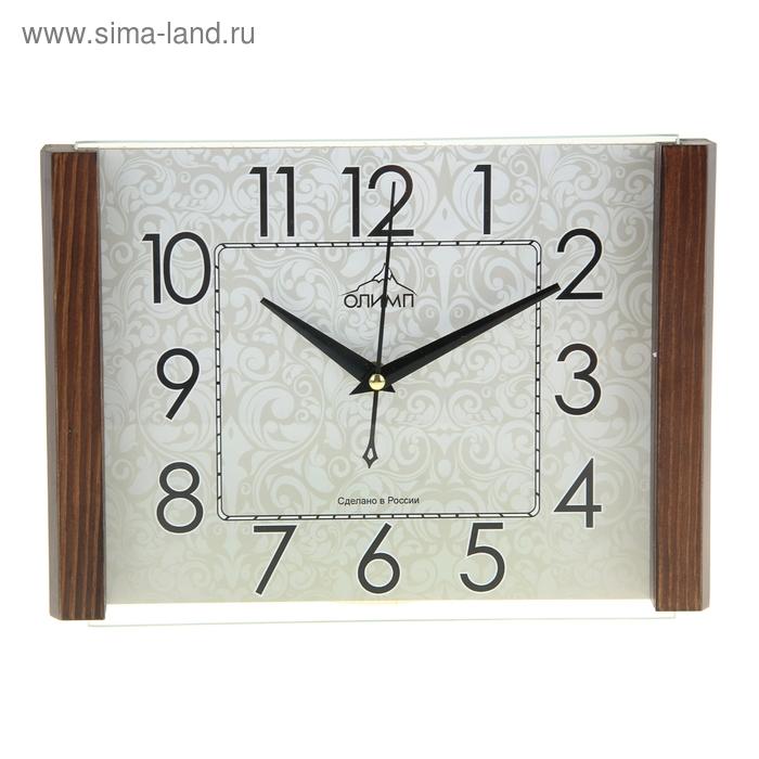 """Часы настенные прямоугольные """"Олимп"""" узор"""