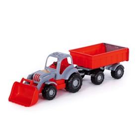 Трактор с прицепом №1 и ковшом «Силач», МИКС