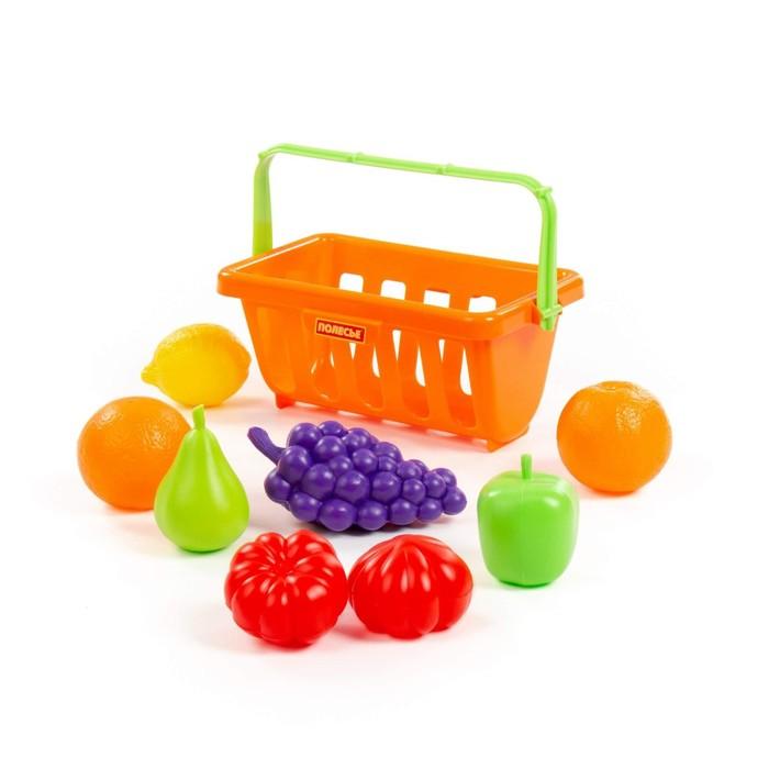 Набор продуктов с корзинкой №2, 9 элементов, цвета МИКС - фото 105582751