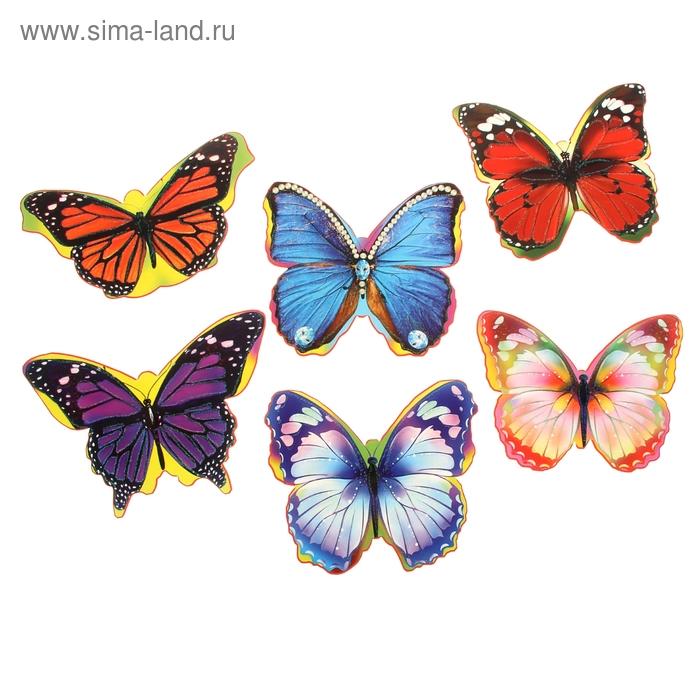 Бабочки на клейкой ленте 1 набор=6 видов по 10 шт