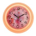 "Часы настенные круглые ""Цветок"" розовые"