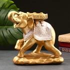 "Статуэтка ""Слон стоя"" бронза/серебро 14х25х25см"