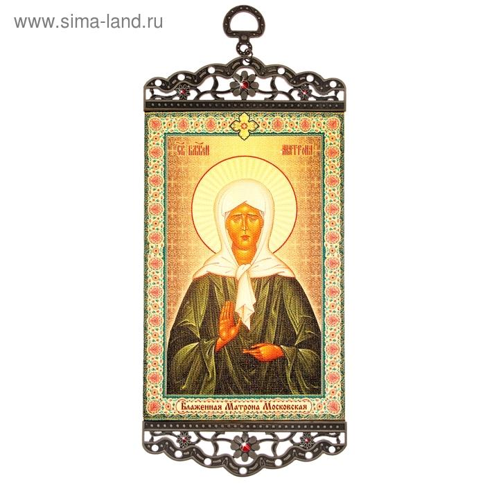"""Икона-хоругвия """"Блаженная Матрона Московская"""" на подвесе"""