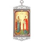 """Икона-хоругвия """"Святые Петр и Феврония, покровители семьи"""" на подвесе"""