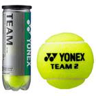 Мяч теннисный Yonex Team 3B, набор 3 штуки, одобрено ITF и FFT, натуральная резина, сукно